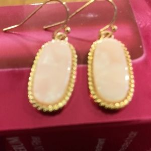 Jewelry - Gold Tone Pink Mini Acrylic Tortoise Earrings